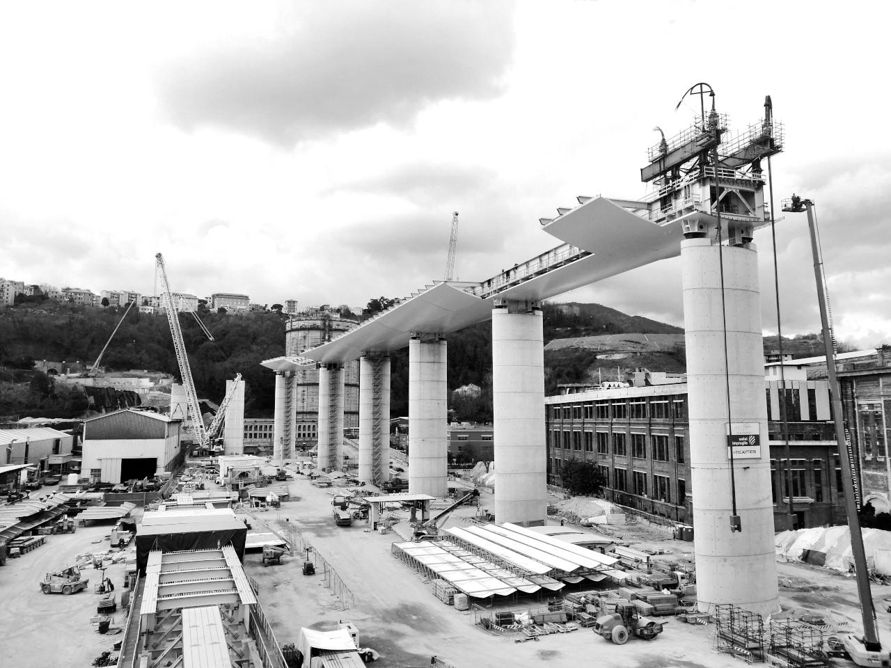 Ponte Morandi Genova Assistenza topografica carpenteria precisione varo ponte